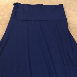 LuLaRoe Blue Solid Maxi Skirt - Medium (10/12)